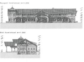 A gyermektábor főépületének látványterve